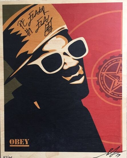 Shepard Fairey, 'FLAVOR FLAV (Public Enemy) - Wood panel', 2017