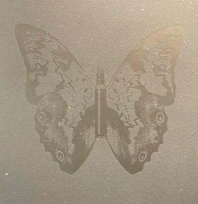 Rubem Robierb, 'Pearl on white bulletfly II'