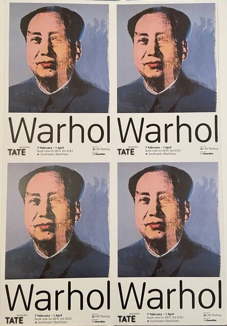 Andy Warhol, 'Andy Warhol, Mao, Tate Modern, Super Rare Museum Exhibition Poster 7 February - April 1 ', 1999