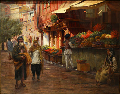 Frederick Swynnerton, 'A Street scene in Simla, India', 1905