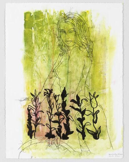 Ghada Amer & Reza Farkhondeh, 'Black Forest Sweetheart', 2017
