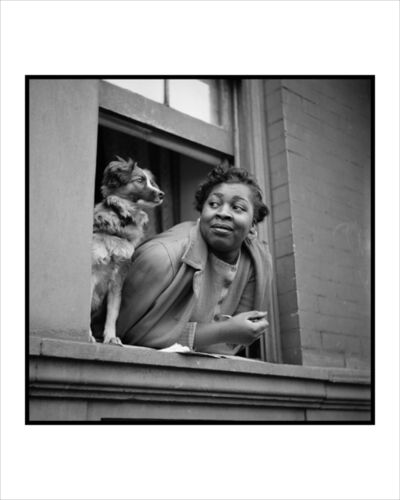 Gordon Parks, 'Woman and Dog in Window, Harlem, New York', 1943