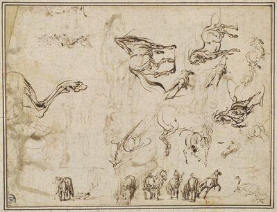 Jacques Callot after Antonio Tempesta, 'Studies of Horses [verso]', ca. 1615/1617
