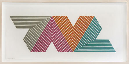 Frank Stella, 'Empress of India II, from V Series', 1968