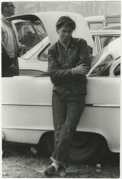 Danny Lyon, 'Unpublished from my first day of working on 'The Bikeriders', Elkhorn, Wisconsin', 1963