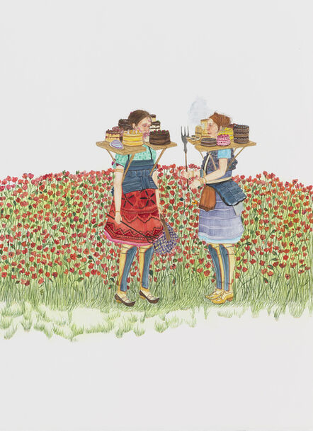 Amy Cutler, 'Peddling in the Poppies', 2016