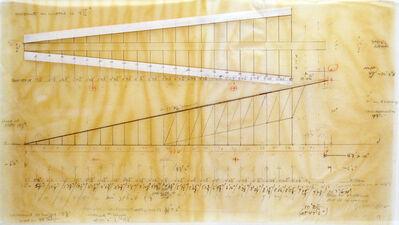 Cris Gianakos, 'Master Drawing for Ramp Installation/U MASS, Amherst, 6.11.1989', 1989
