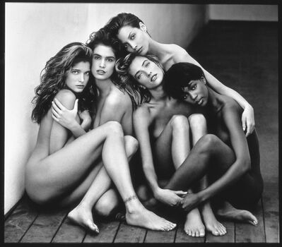 Herb Ritts, 'Stephanie, Cindy, Christy, Tatjana, Naomi, Hollywood, 1989', 1989