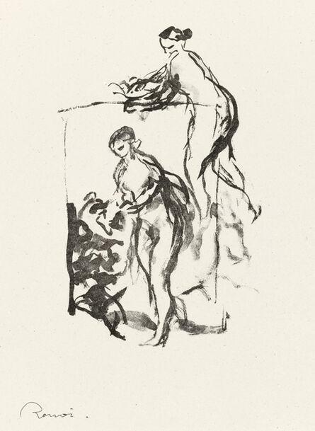 Pierre-Auguste Renoir, 'Femme au Cep de Vigne, 3 Variante, from L'Album des Douze Lithographies Originales de Pierre-Auguste Renoir (Delteil 47)', 1904