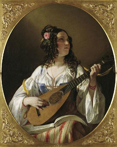 Friedrich von Amerling, 'Lute player', 1838
