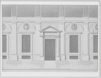 Antonio Asprucci, '[Elevation and plan for portico]', 1775-1820