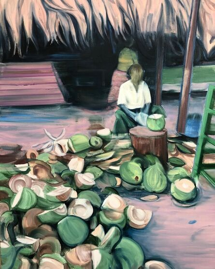 Lei Qi, 'The guy who splits coconuts', 2020
