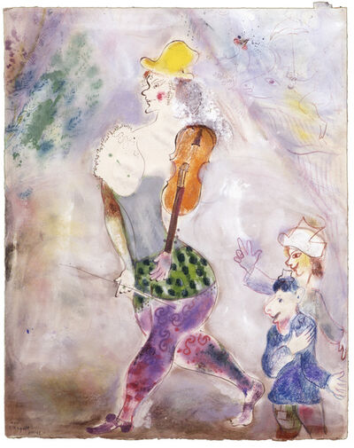 Marc Chagall, 'A Clown Playing the Violin (Clown jouant au violon)', 1941–42