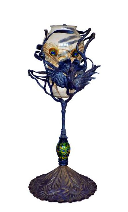 Umberto Bellotto et Atelier de Guiseppe Barovier, 'Vase «Plume de paon» (Peacock feather vase)', c. 1914