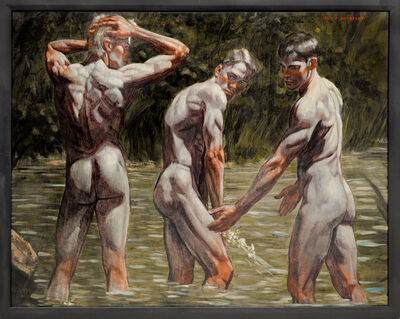 Mark Beard, '[Bruce Sargeant (1898-1938)] Bathers by the Shore', n.d.