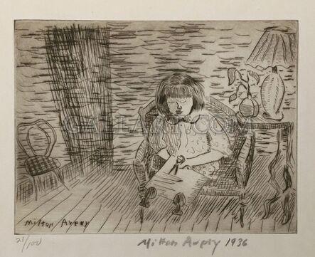 Milton Avery, 'A CHILD CUTTING', 1936