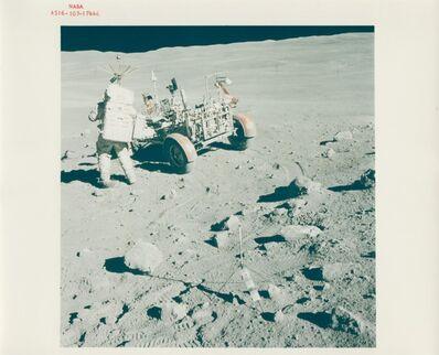 John Young (1930-2018), 'John Young, Charles Duke and the Lunar Rover, Apollo 16, April 1972'