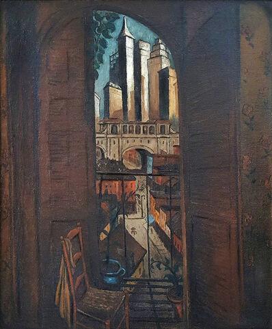 Glenn O. Coleman, 'From a Balcony   ( Skyscraper City: 1928)', ca. 1927