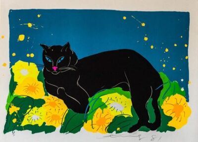 Walasse Ting 丁雄泉, 'Black Cat', 1981