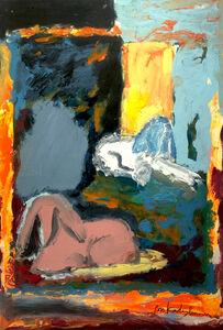 Menashe Kadishman, 'Sheep grazing', ca. 1980