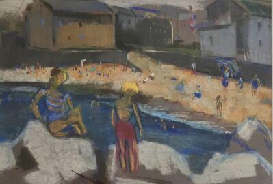 Joseph Kaplan, 'Figures at the Beach', Mid 20th c.