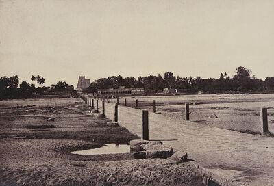 Linnaeus Tripe, 'The Causeway Across Vaigai River, Madura', 1858