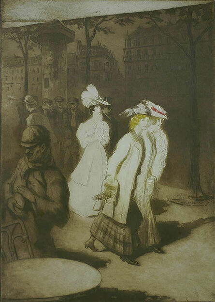 Edgar Chahine, 'Les Trotteuses (Women about Town)', 1907