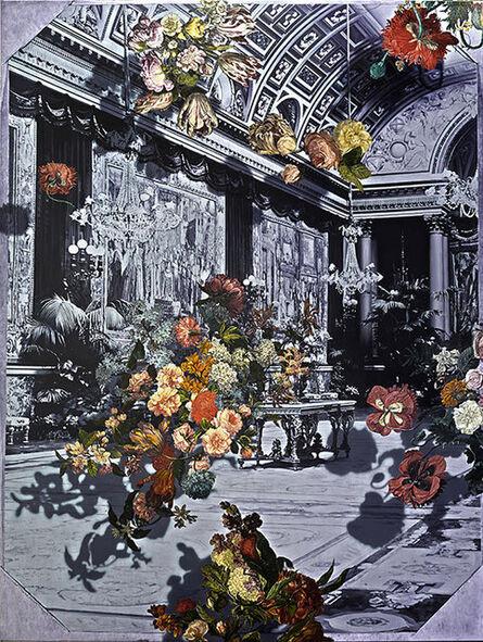 James McGrath, 'Galerie des Batailles (Falling Flowers Mirror I)', 2014