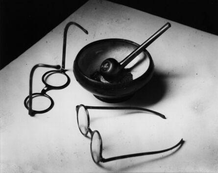 André Kertész, 'Mondrian's Glasses and Pipe, Paris, France', 1926/1970s
