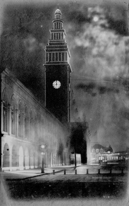 Willard Worden, 'Ferry Building at Night', 1903