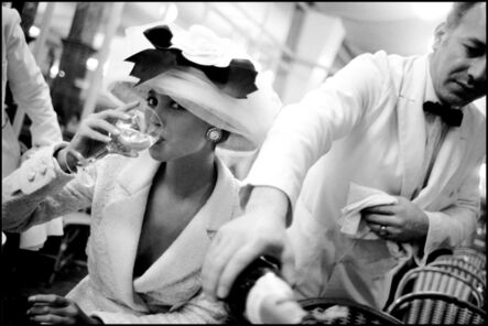 Arthur Elgort, 'Christy Turlington at La Coupole, Paris', 1988