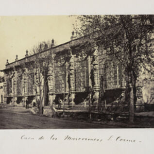 Claude Joseph Désiré Charnay, 'Casa de los mascarones, S. Cosme', 1858