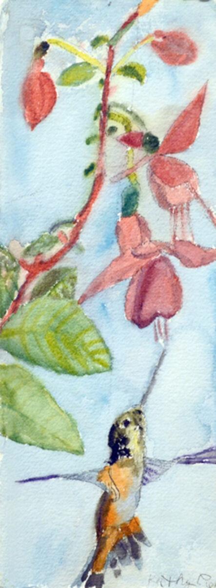 Kathy Pieper, 'A Hummingbird & Flowers', 2013