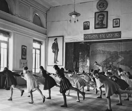 Robert Capa, 'Class in Tiflis, Most girl students have a secret yearning to be a ballet dancer', 1947