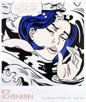 "Roy Lichtenstein, '""Drowning Girl"" by Roy Lichtenstein, MOMA First Edition Billboard Poster', 1989"