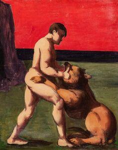 Pompeo Borra, 'The fighter', 1935