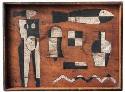 Manuel Pailós, 'Composition geometrique au personnage et poisson'