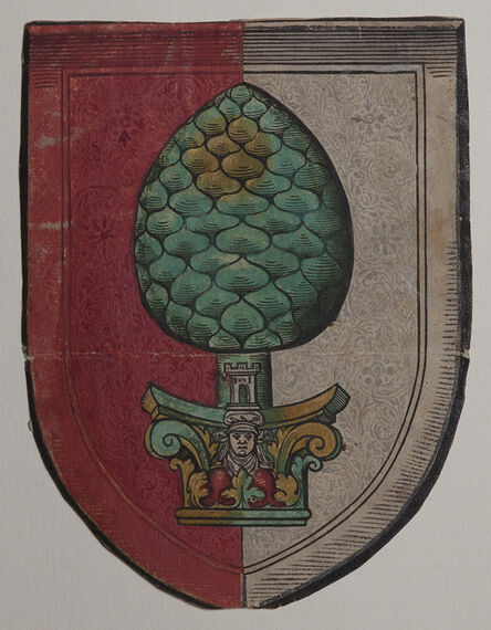 Christoph Amberger, 'Large Ex-Libris for the City of Augsburg in the Form of a Shield', ca. 1540