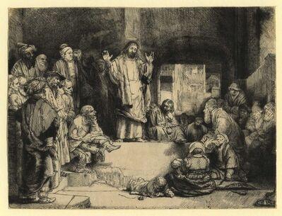 "Rembrandt van Rijn, 'Christ Preaching (""La Petite Tombe"")', ca. 1657"