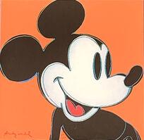 Andy Warhol, 'Mickey Mouse (Orange)', 1986
