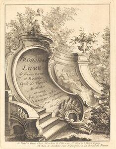 Antoine Aveline, 'Troisieme livre de formes Cartels et Rocailles (Title Page)', 1736