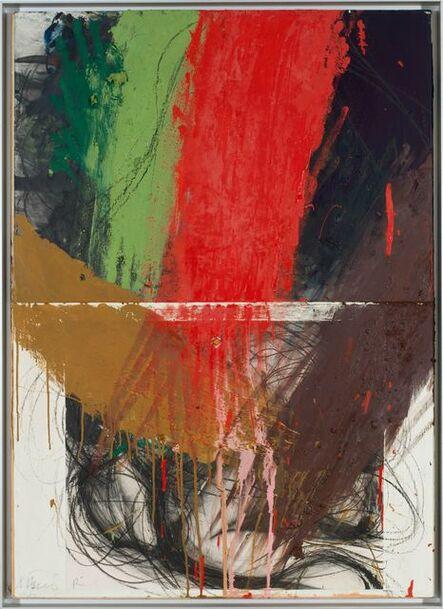 Arnulf Rainer, 'Ringen unter Rot/Grün', 1984/87