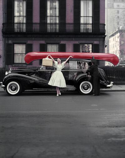 William Helburn, 'Red Canoe, Barbara Mullen, NY', 1957