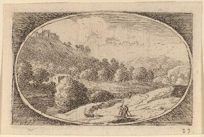 Herman van Swanevelt, 'Two Men Carrying Staffs'