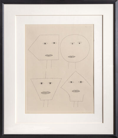 Victor Brauner, 'Code of Faces I', 1962