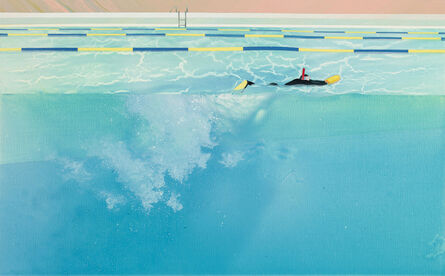 Yang-Tsung Fan, 'Swimming pool series-floating in a swimming pool with sunshine reflection', 2013