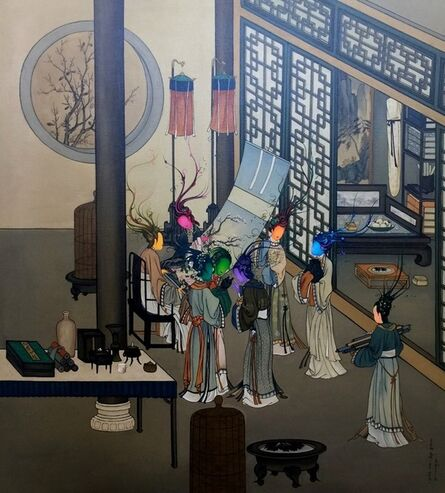 Gao Feng, 'Ancient Organisms Series- Painting of Court Ladies I'