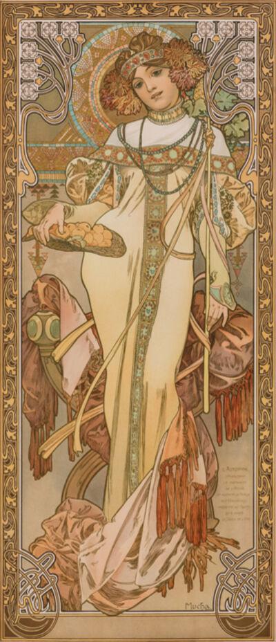 Alphonse Mucha, 'L'Automne', c. 1903