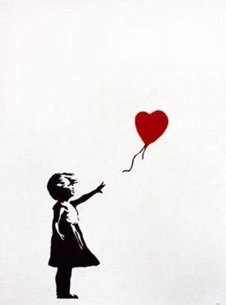 Banksy, 'Girl with Balloon, Unsigned', 2004
