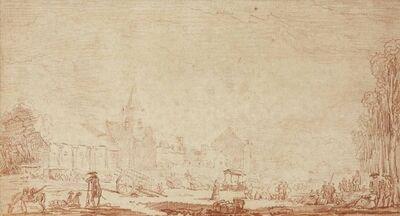 Hubert Robert, 'A village near Paris'
